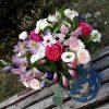 """Капелюшна коробка """"Легкість"""" мікс квітів"""