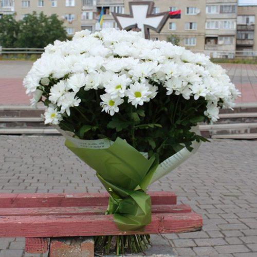 букет 33 хризантеми
