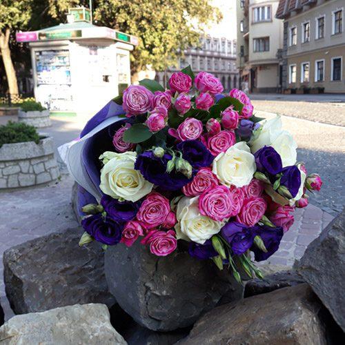 """Букет """"Промінь"""" мікс квітів"""