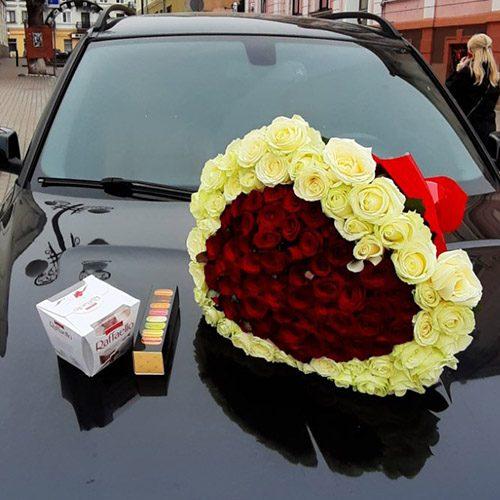 Фото товару 121 троянда серце