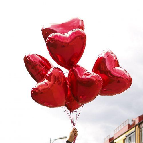 """Кульки """"Серце"""" 7 штук"""