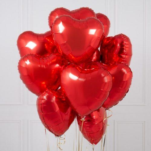Повітряні кульки у формі серця