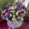 """Капелюшна коробка """"Дорога"""" великий мікс квітів"""