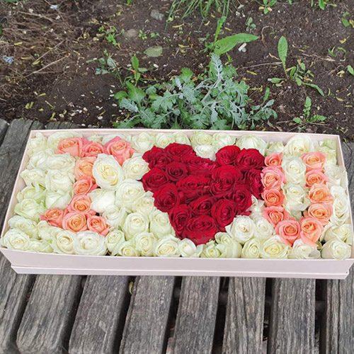 """Букет """"I love You"""" 101 троянда фото"""