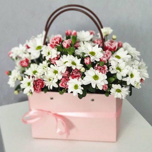 букет Рожева сумочка